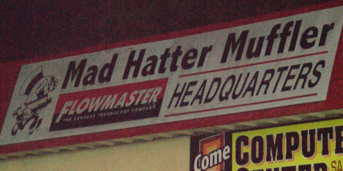 Mad woman fires shot at Mad Hatter Muffler