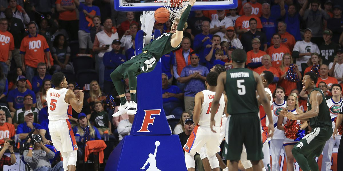 No. 10 Michigan State holds off Florida late, wins 63-59
