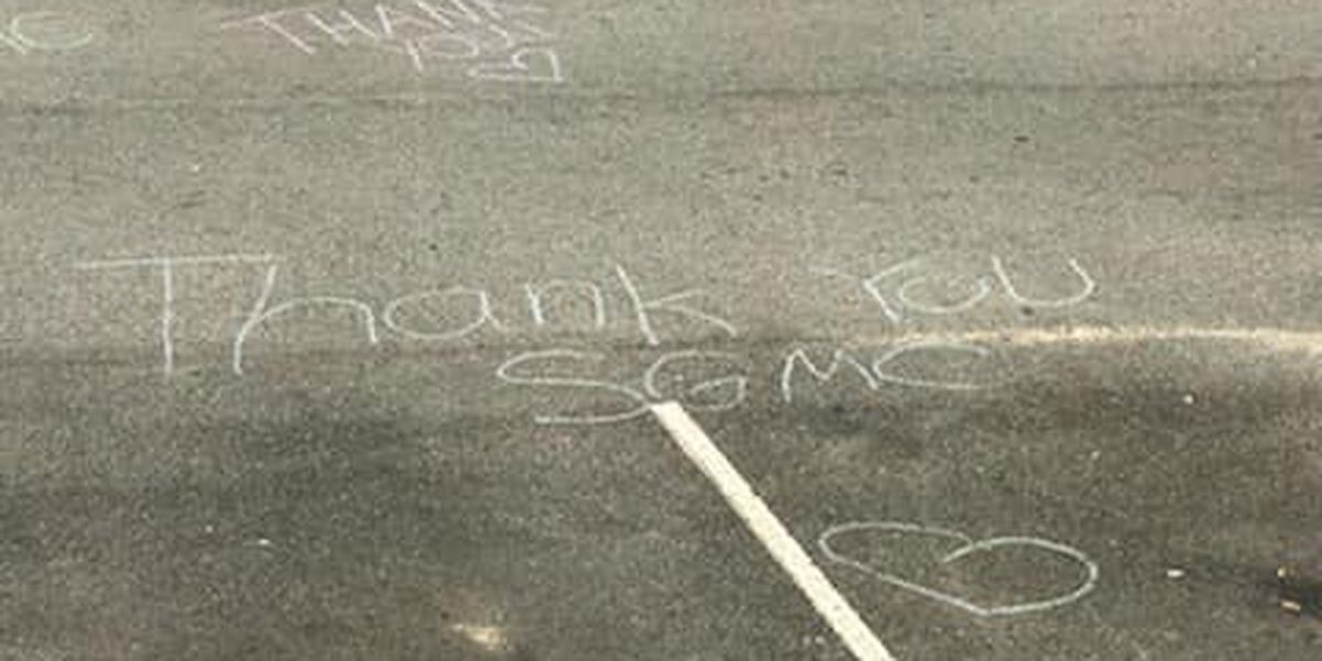 SGMC staff find surprise anonymous chalk thank you notes