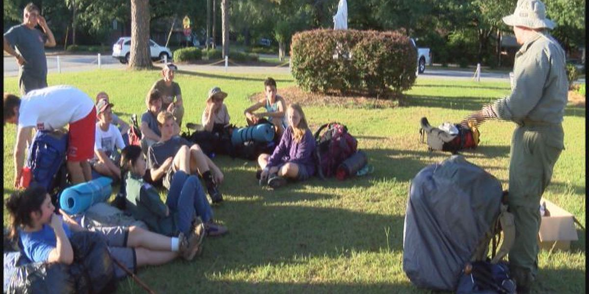 South Georgia co-ed scout troop prepares for hiking trip