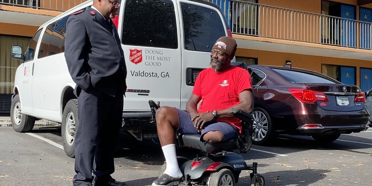 Valdosta's Salvation Army donates motorized wheelchair to homeless veteran