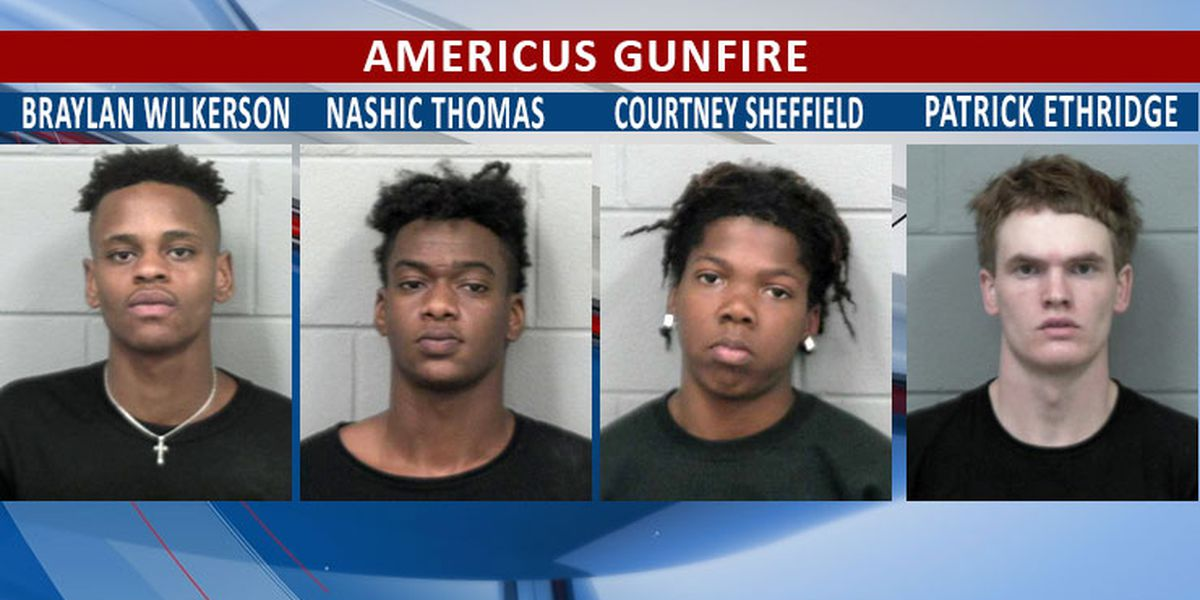 4 arrested after gunfire in Americus