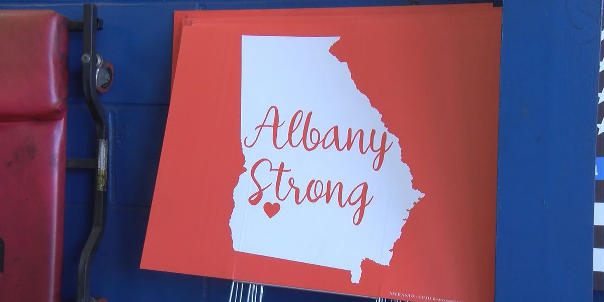 'Albany Strong' signs for sale to benefit storm relief efforts