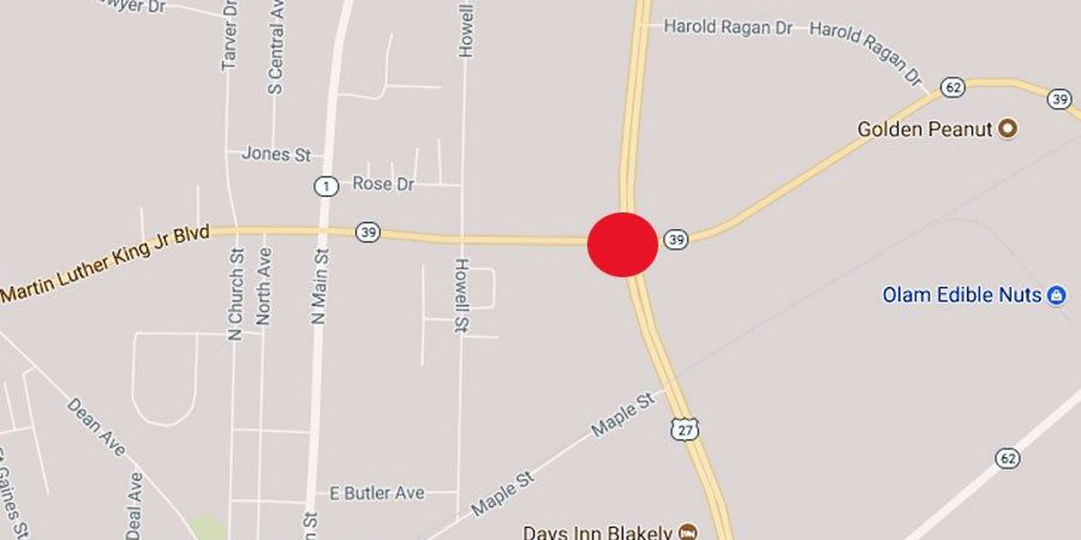 Several injured in Blakely crash