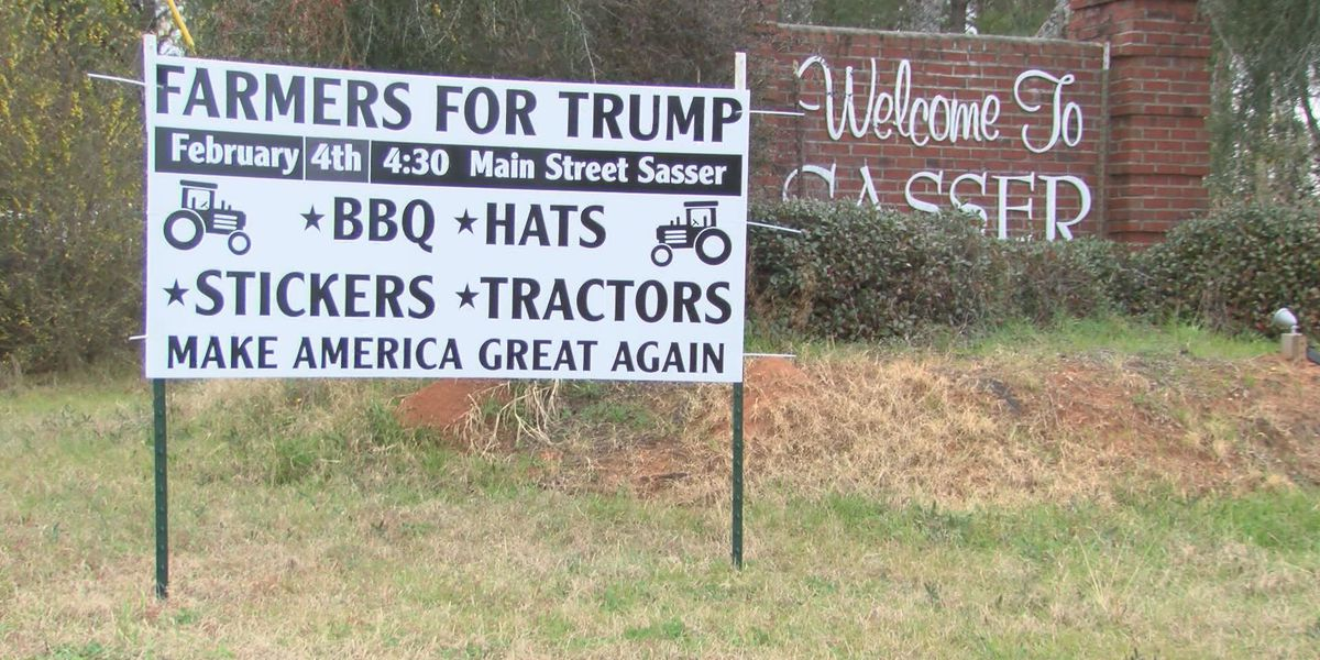 Trump supporters rally in Sasser