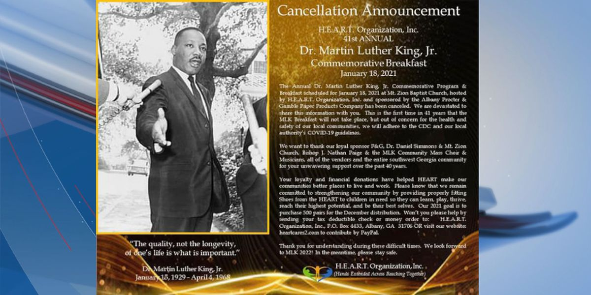 Annual Albany Dr. Martin Luther King Jr. Breakfast canceled