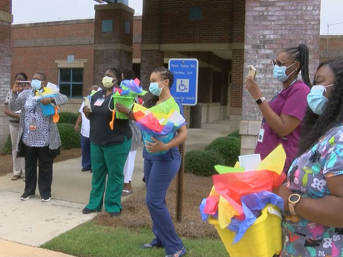 Community members host surprise parade to honor frontline nurses