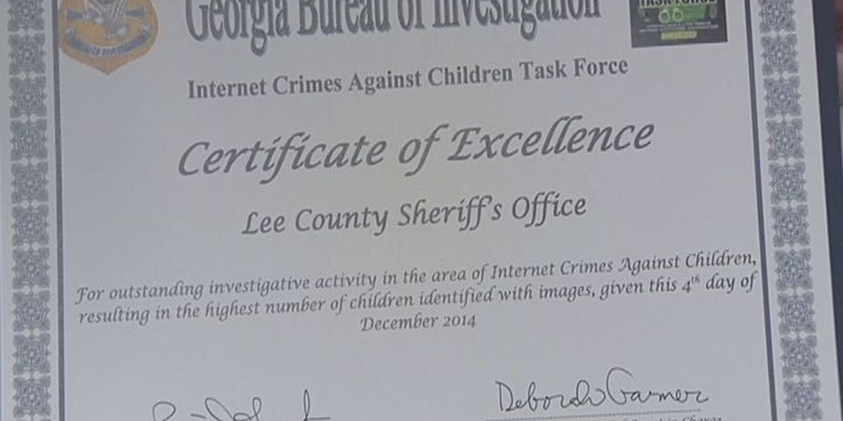 Lee Co. Sheriff's Office awarded for fight against cyber-crime