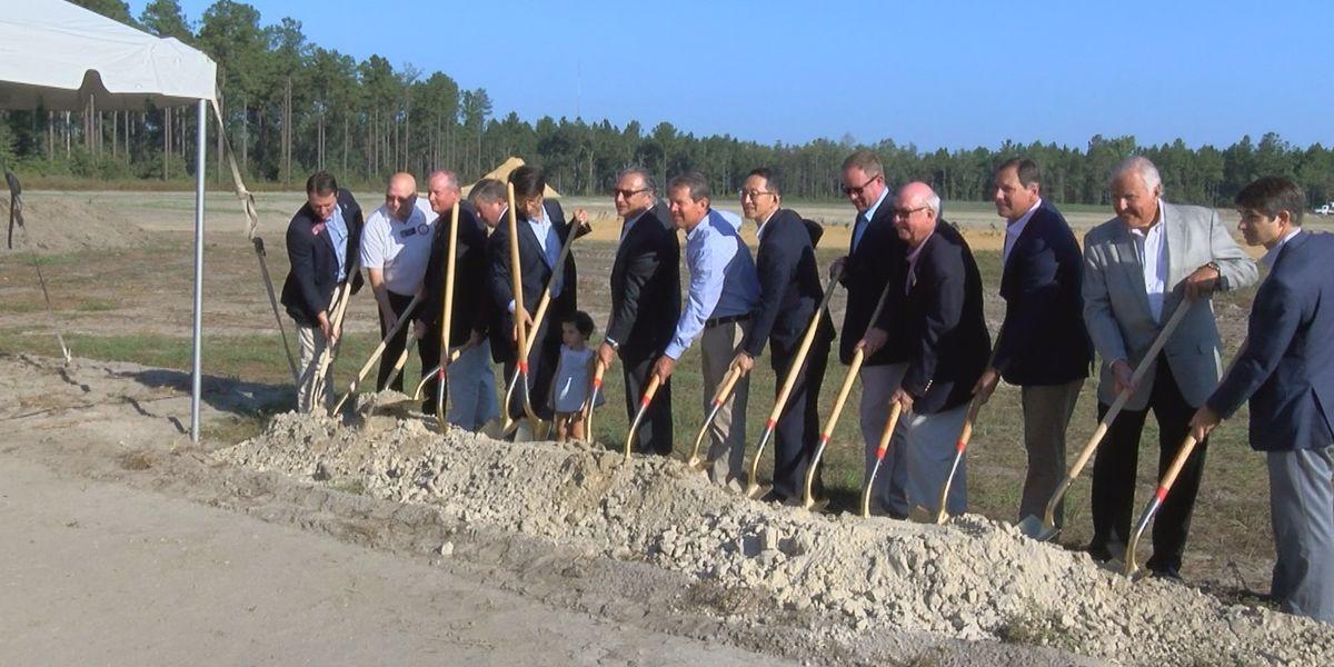 Kemp visits for groundbreaking of new Valdosta company