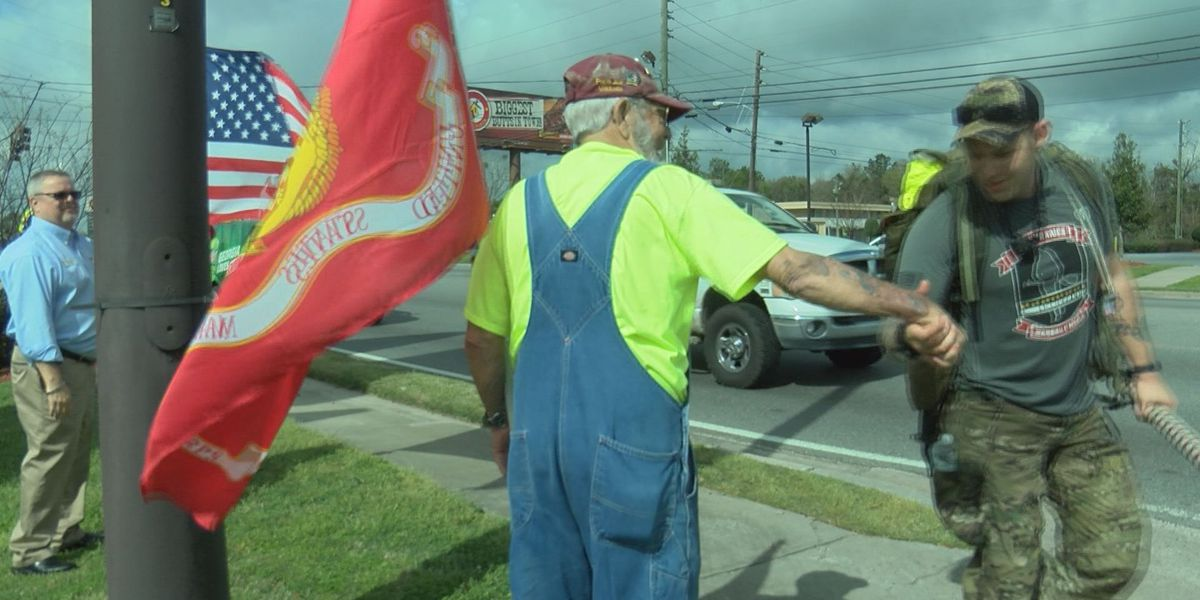 Marines march to honor fallen brothers