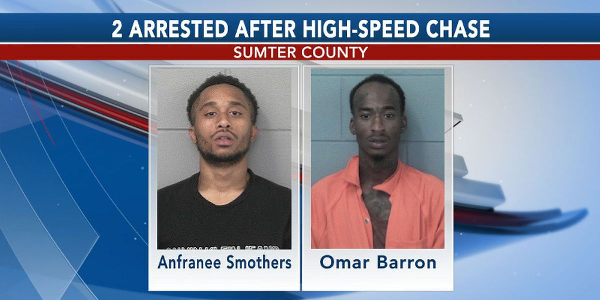 High-speed chase in Sumter Co. ends in 2 arrests