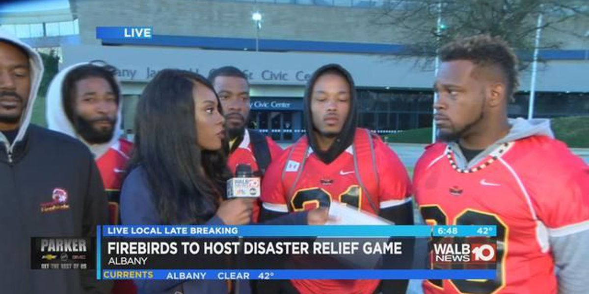 Firebirds host disaster relief game Thursday night