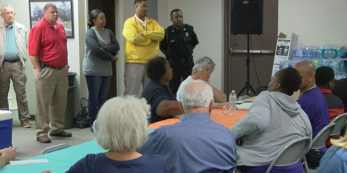 Tornado warning interrupts Holly Drive relief meeting