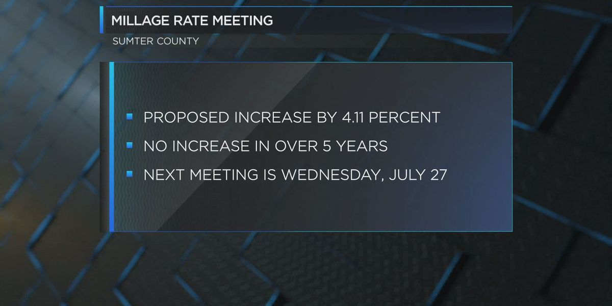 Sumter Co. holds millage rate hearings