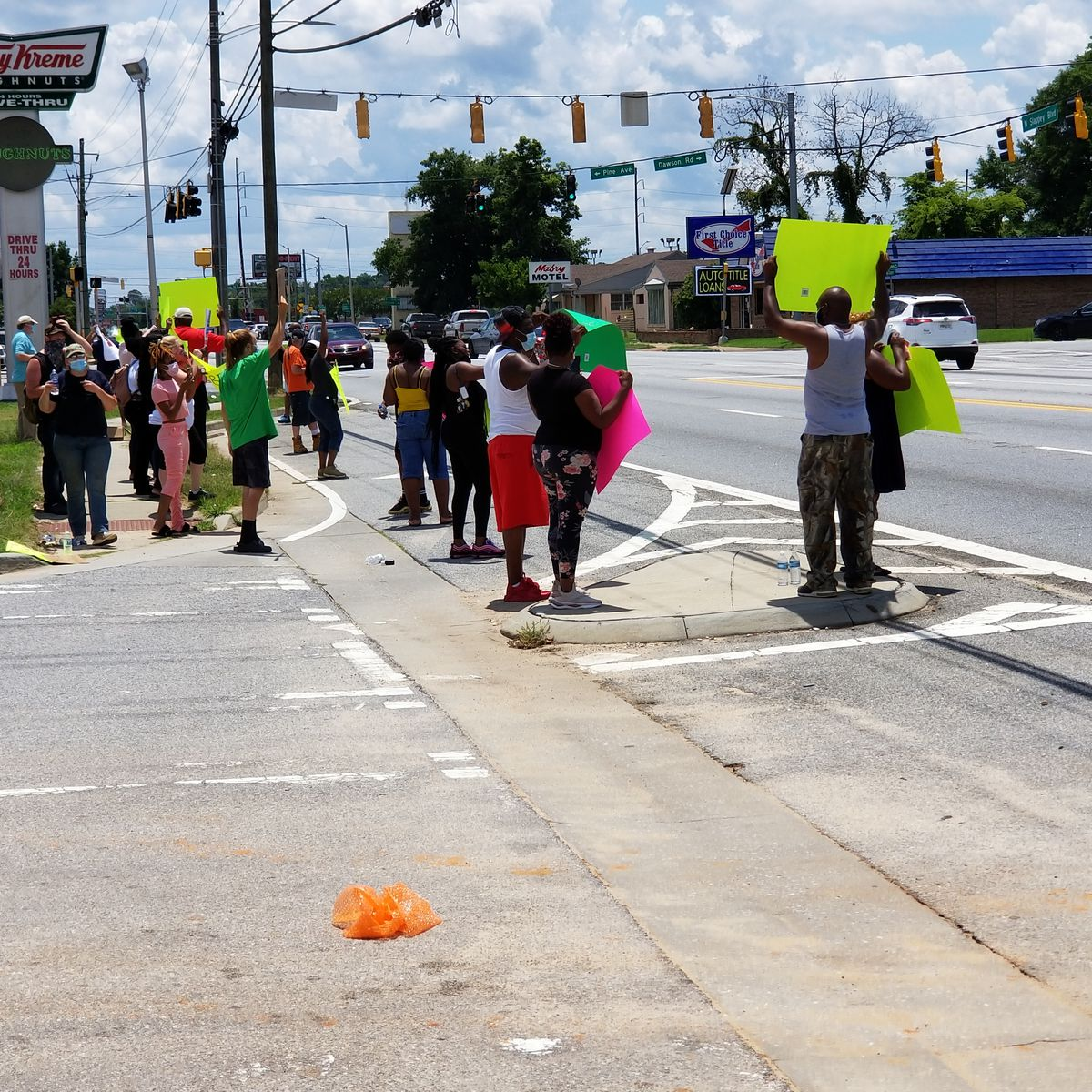 Peaceful protest against killing of George Floyd underway in Albany