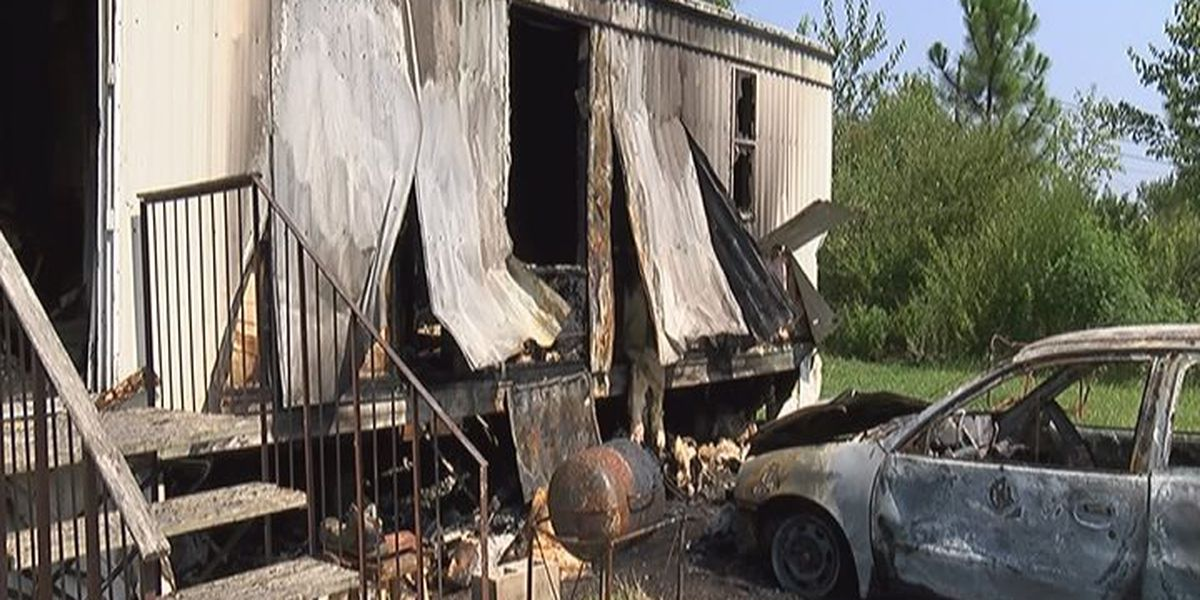 Big blaze claims woman's car, home