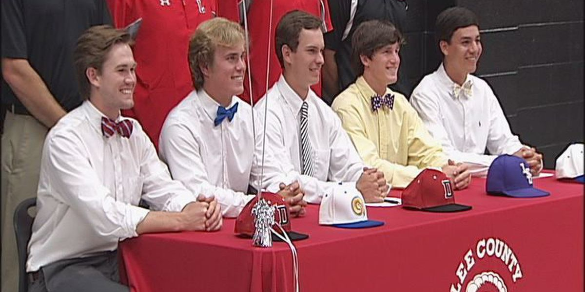 Five Lee Co. baseball standouts sign scholarships
