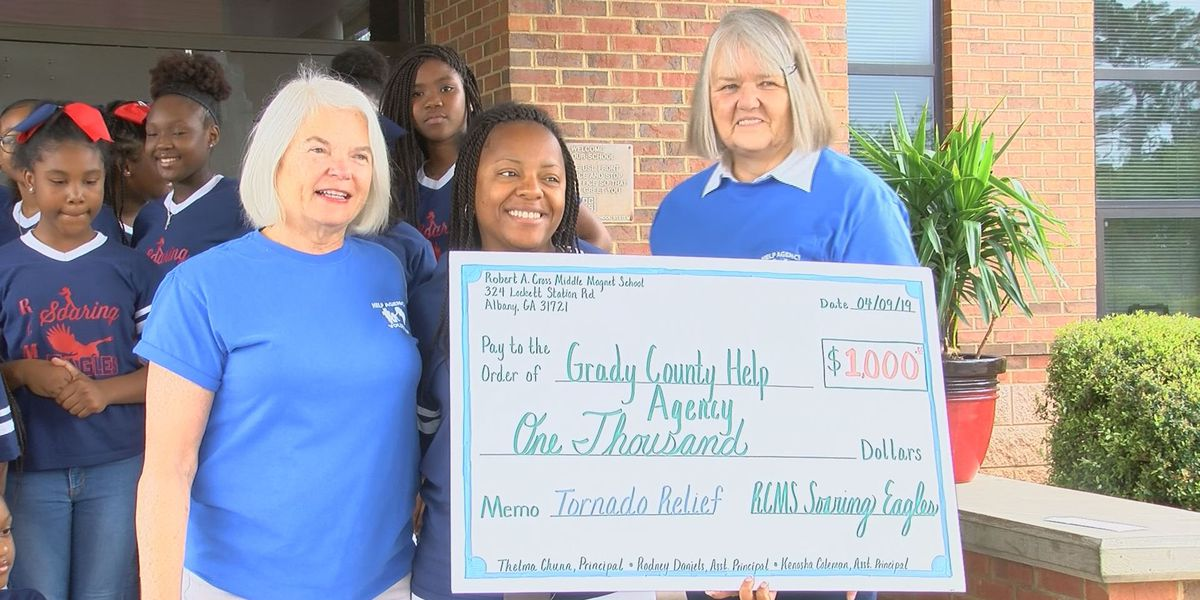 Dougherty Co. school gives back to Grady Co. storm victims