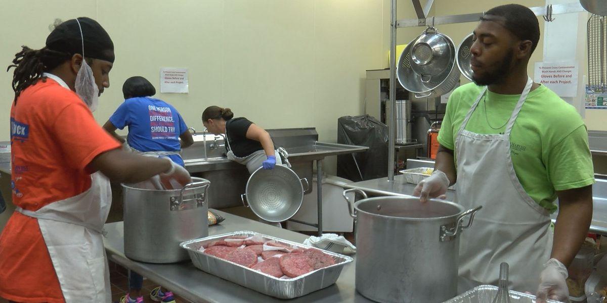 Food bank prepares meals for evacuees
