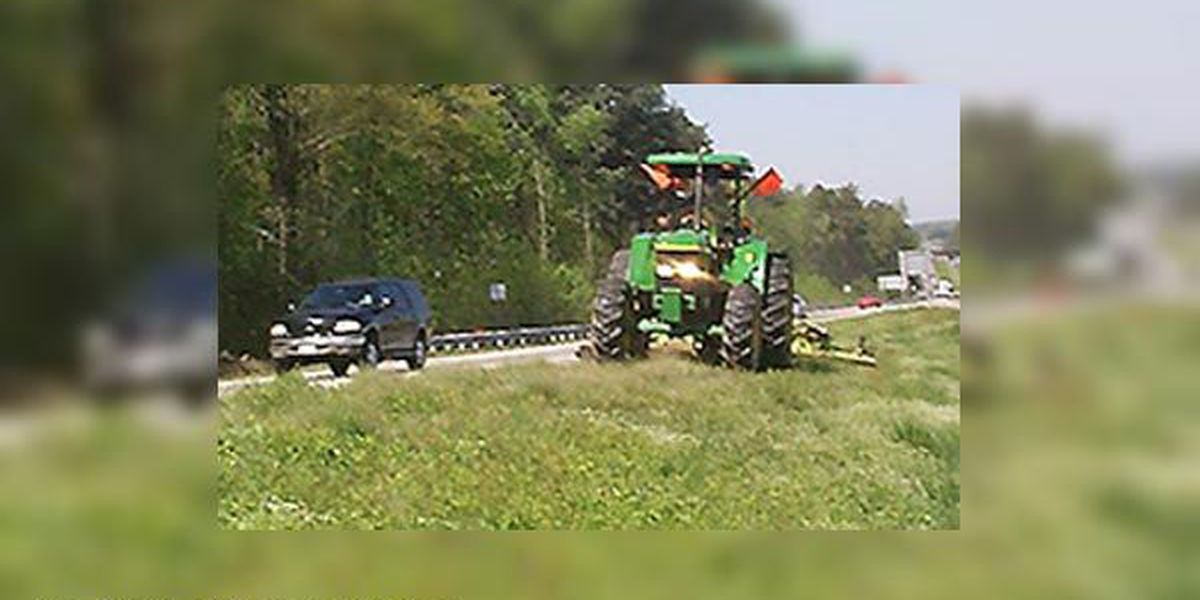 Watch for mowers along the highway