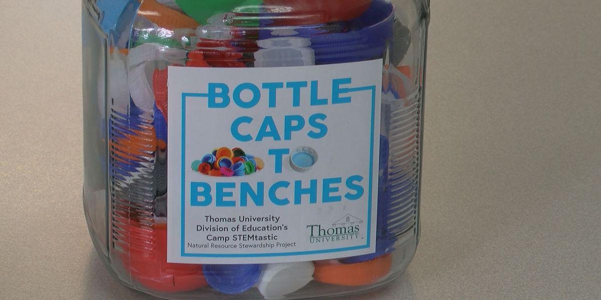 Thomas University is collecting bottle caps