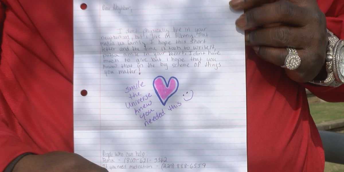 """""""Project Love Letter"""" providing encouraging notes for victims"""
