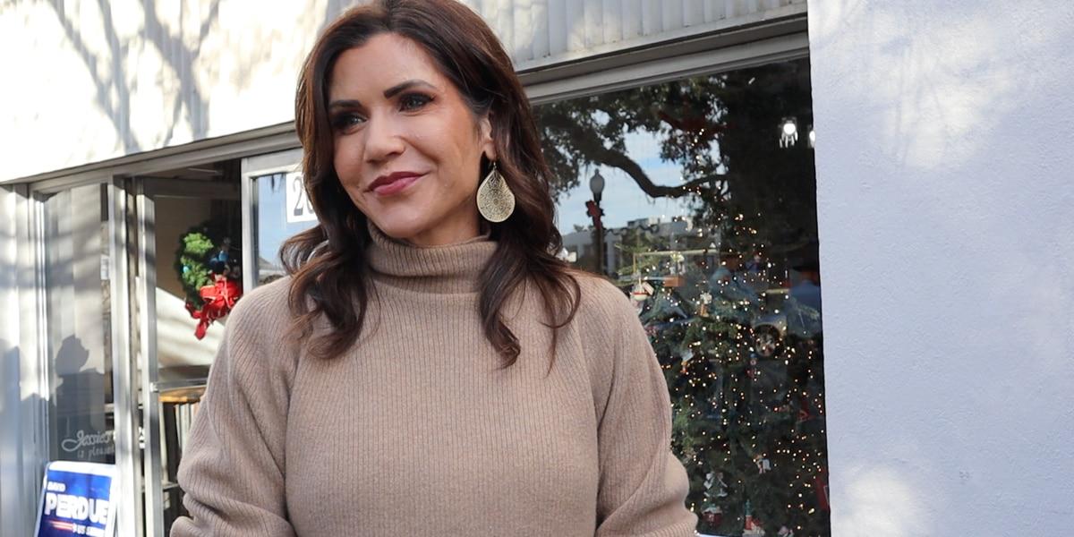 South Dakota Gov. Kristi Noem encourages Georgia Republicans to vote