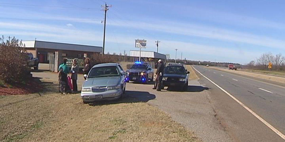 Debris in road blamed for wreck