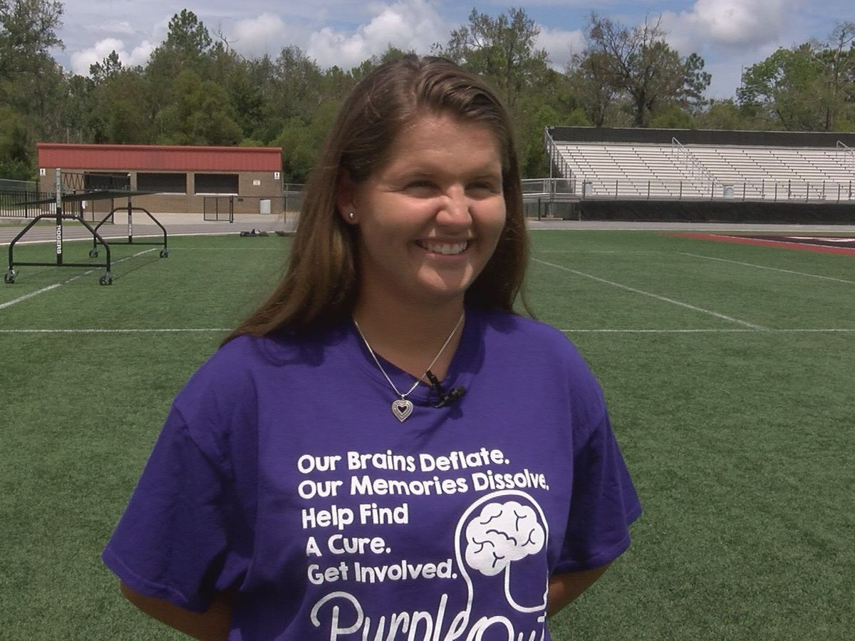 Lee Co. senior raising awareness for Alzheimer's in honor of grandmother