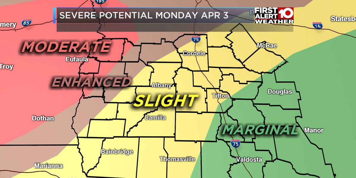 LIVE on TIG: Severe weather threat Monday