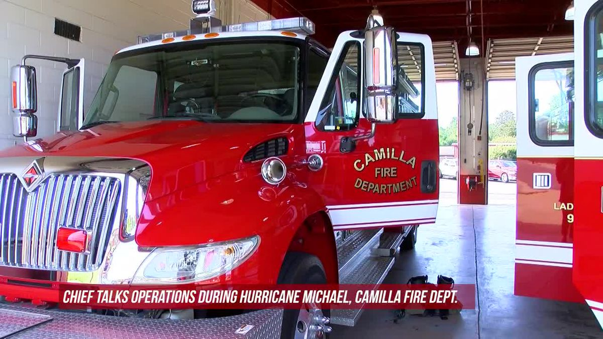 Camilla fire chief talks operations during Hurricane Michael