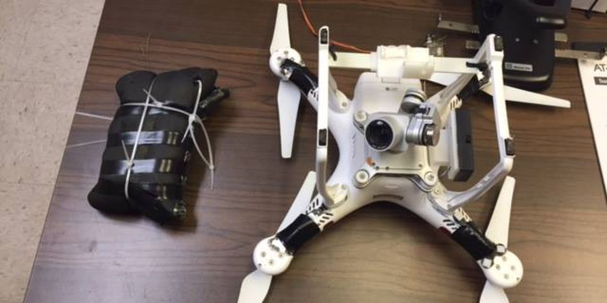Macon State Prison officer discovers drone with contraband