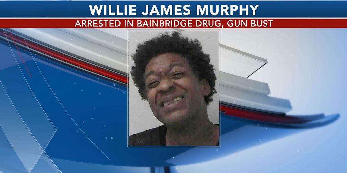 Man arrested in Bainbridge drug, gun bust