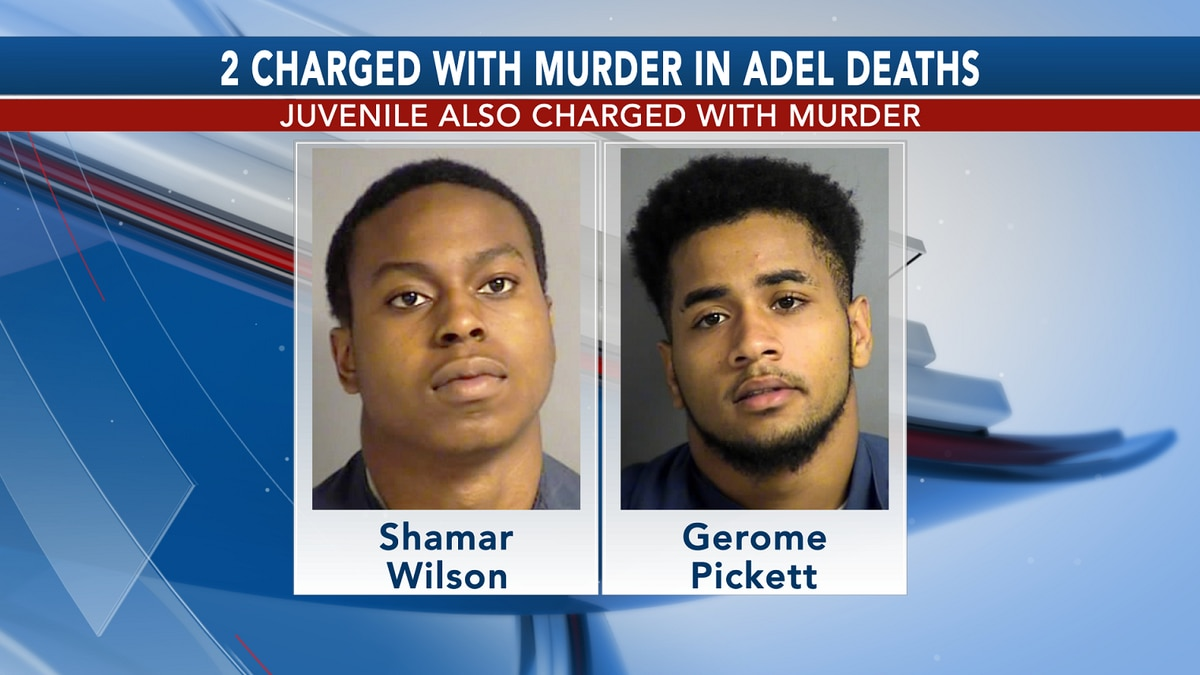 3, including juvenile, charged in Adel deaths