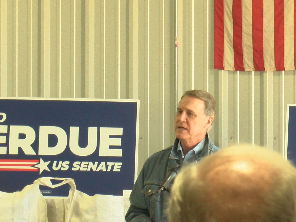 David Perdue makes campaign stop in Crisp Co.