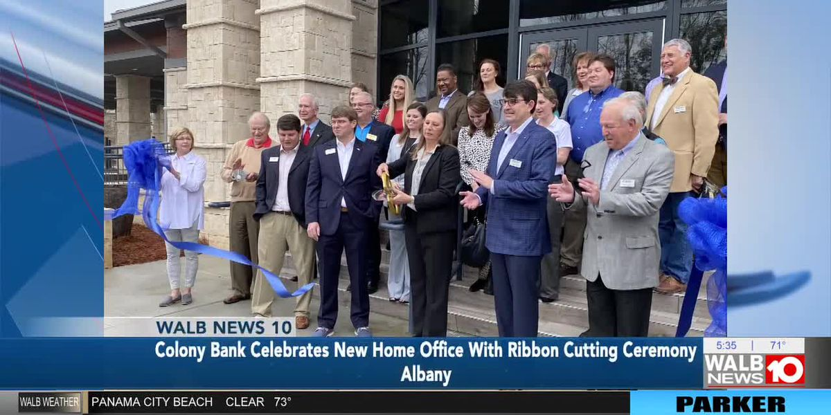 Colony Bank celebrates new home office with ribbon cutting ceremony
