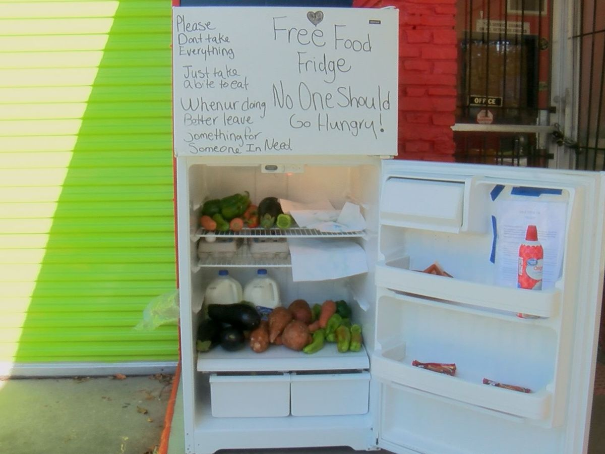 Albany couple feeds community with fridge
