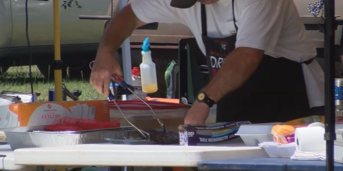 Law enforcement BBQ cook off very popular with competitive first responders