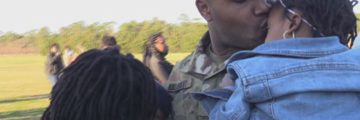 Fort Stewart families welcome home deployed soldiers