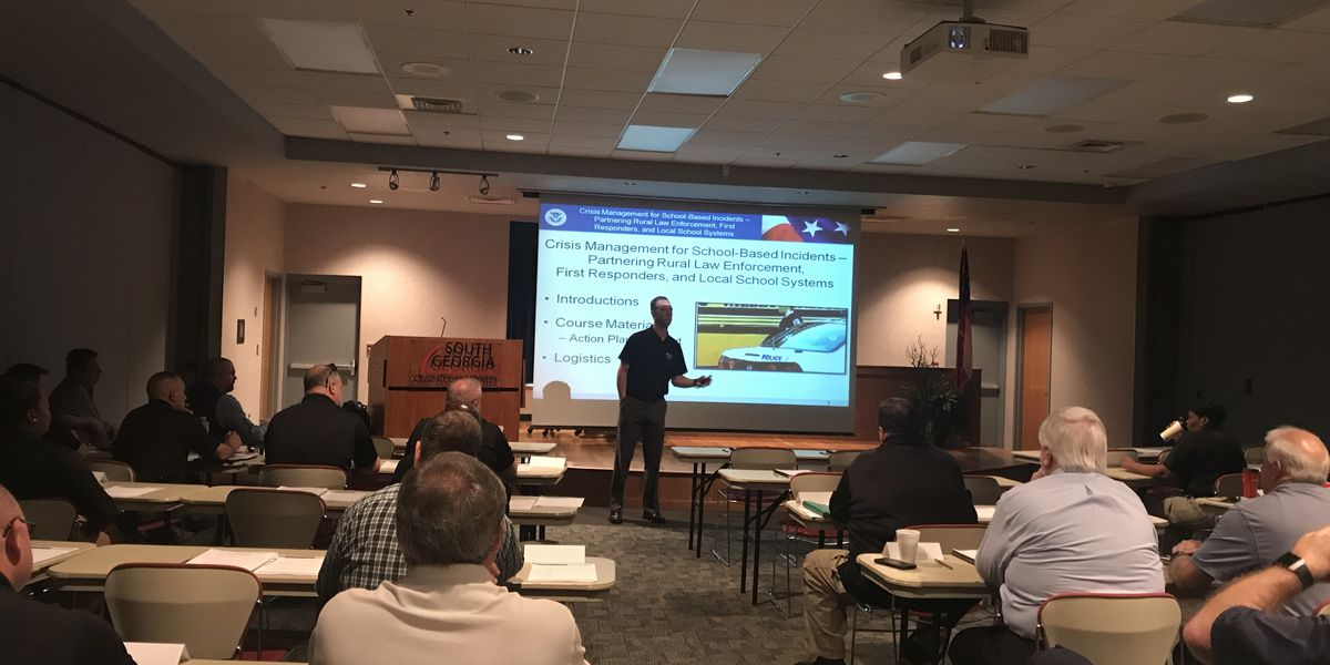 Crisis management for school based incidents training held in Crisp County