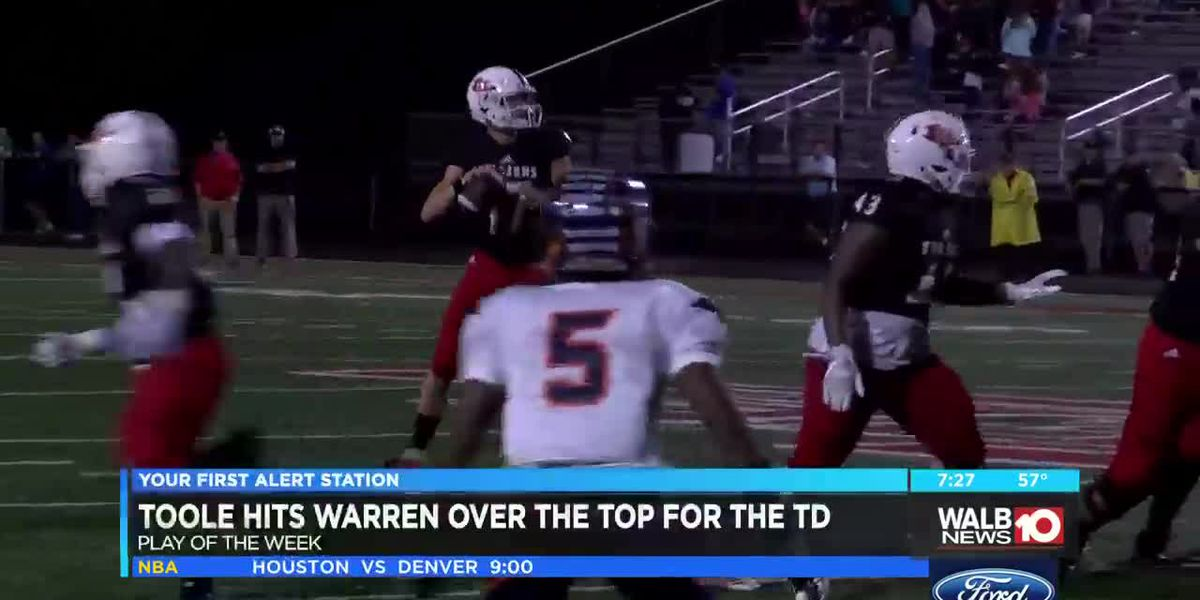 Toole to Warren earns play of the week