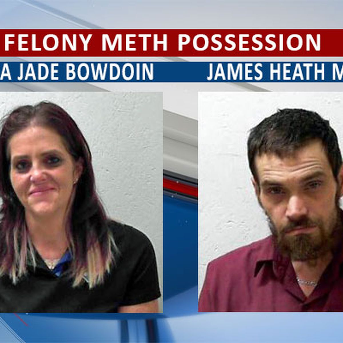 2 meth busts made in Bainbridge