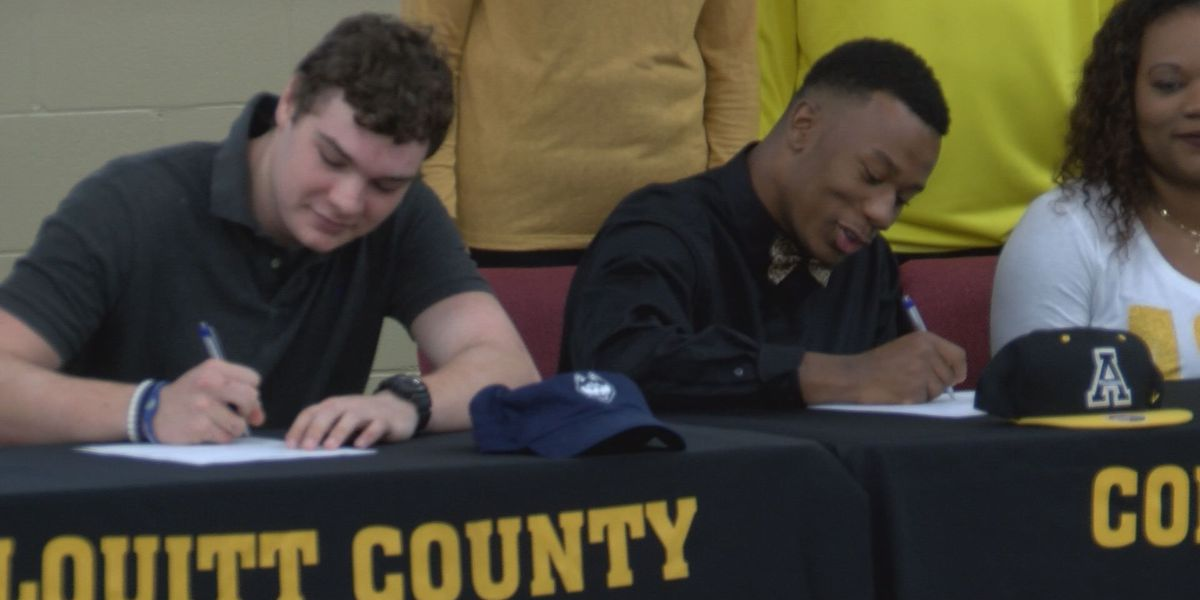Packing up: Couple Colquitt Co. athletes sign early