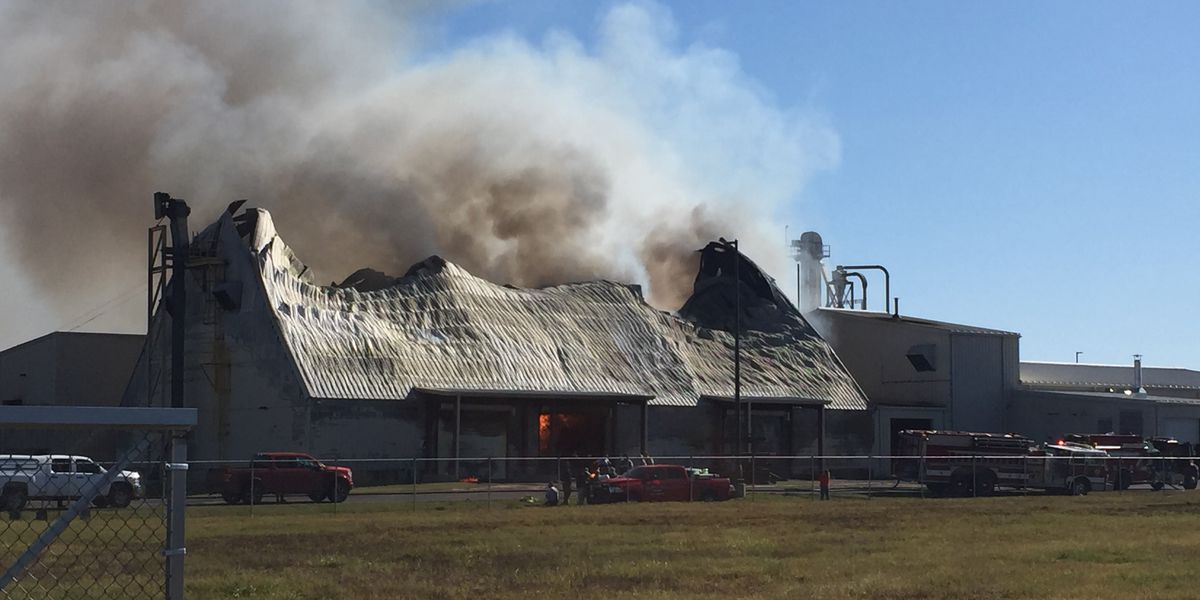 Douglas peanut warehouse catches fire; crews battling the blaze