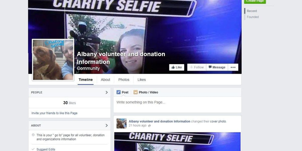 Facebook page turns a trend into charity