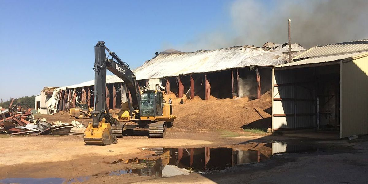 Salvage efforts underway in GA peanut fire