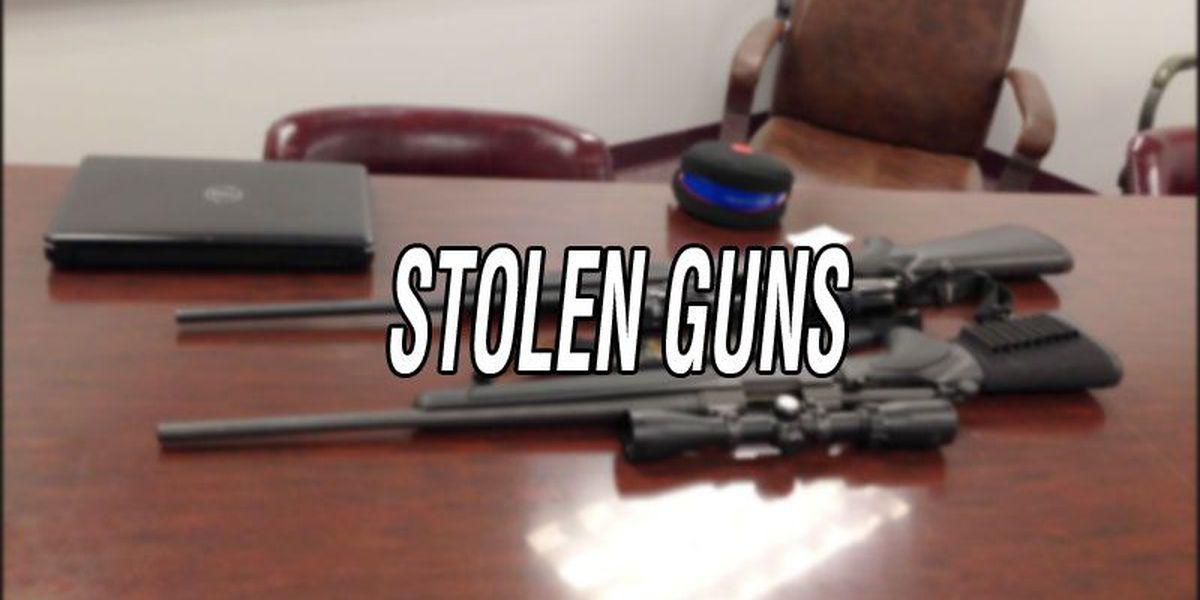 Wilcox law men search for stolen gun cache