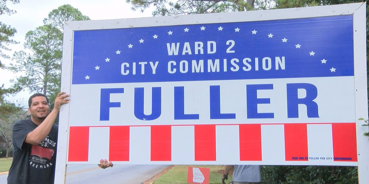 Ward 2 commissioner candidate says election signs were vandalized