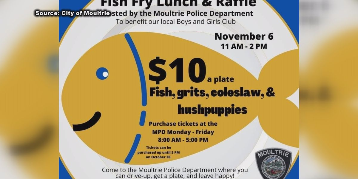 Moultrie Police Dept. to hold fish fry to support Boys & Girls Club