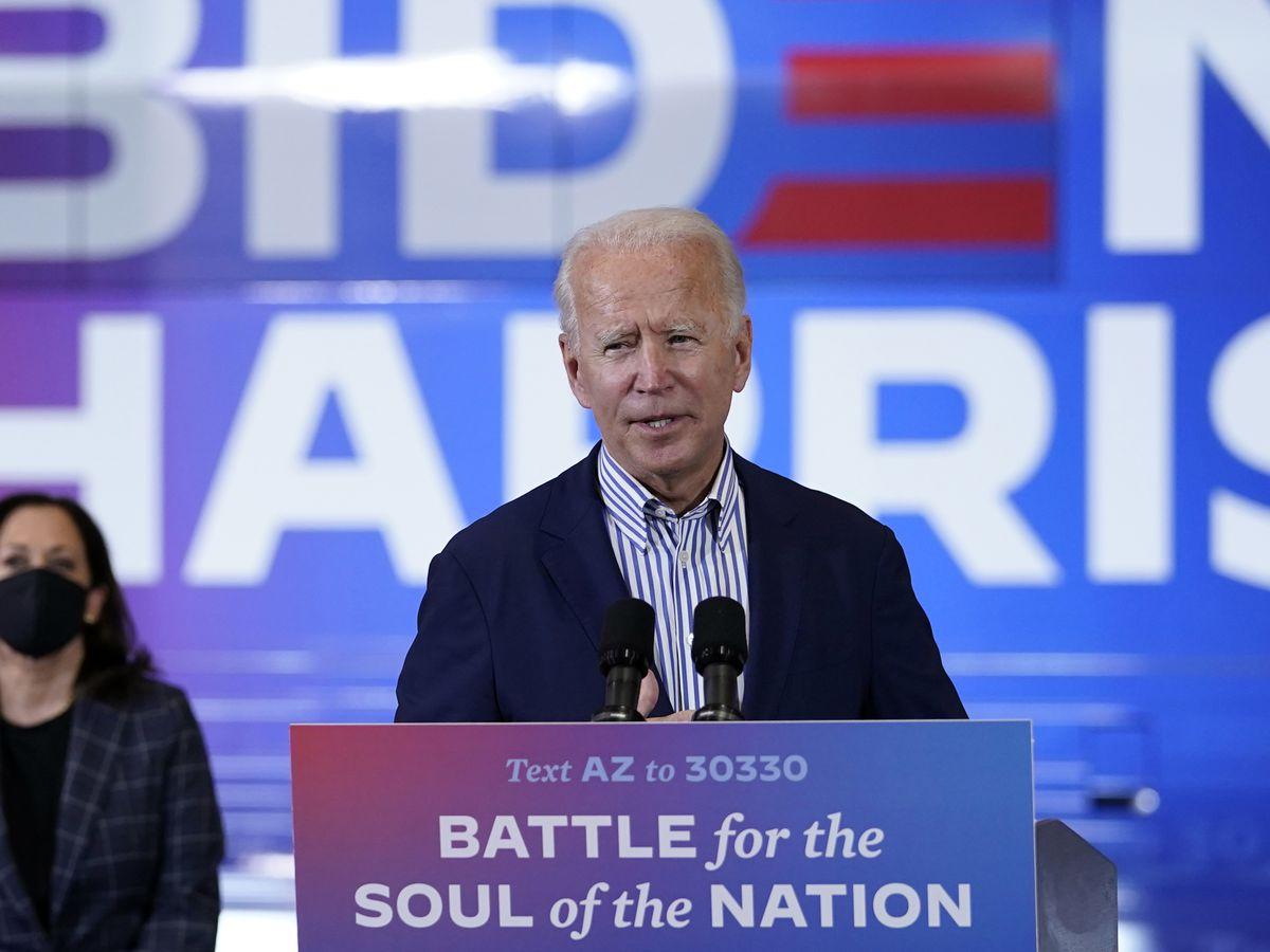 Man accused of threatening Biden, Harris in note to neighbor